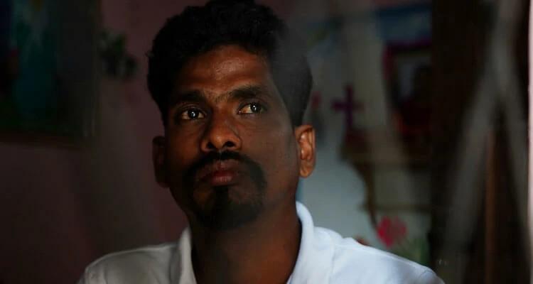 Prashanth perdeu a esposa, Girija, no ataque no domingo de Páscoa à Igreja Sião, no Sri Lanka, em 2019